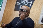 Backstage interview, CeeLo Green, Nibe Festival 2013, © Jacob Stisen